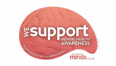 Mental health charity support badge