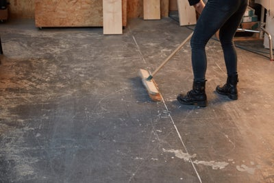 Sweep the floor clean