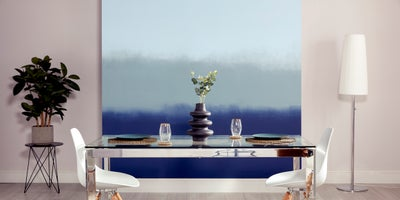 Ombré effect feature wall
