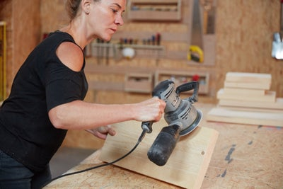 Sand your scaffold boards
