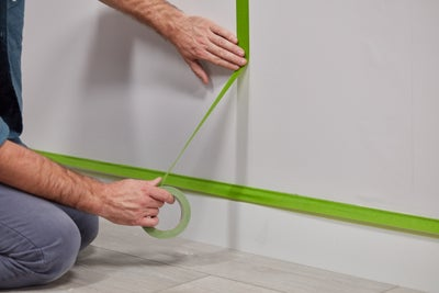 Go over the lines with masking tape