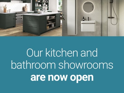 Our kitchen and bathroom showrooms are now open