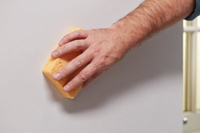 Wipe with a damp sponge