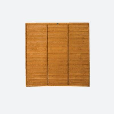 Dip Treated 6x6ft Overlap Fence Panel