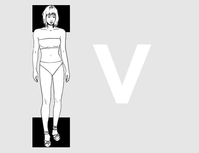 Forme morphologique V