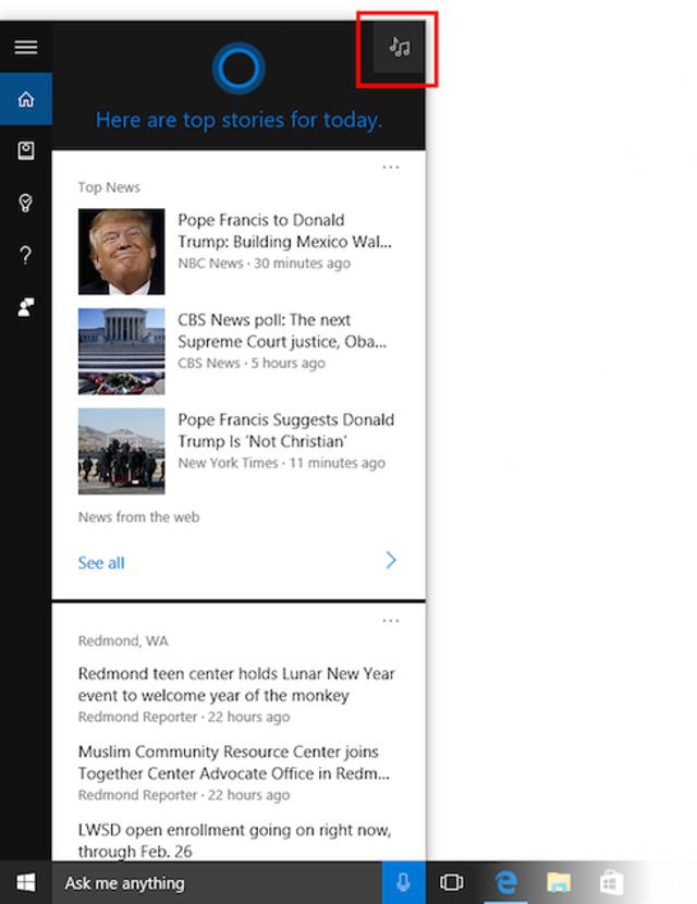 Cortana Gets A Music Update