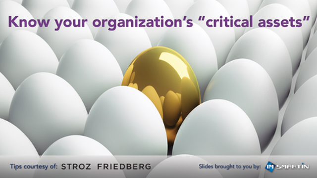 """Know your organization's """"critical assets"""" and where they are"""