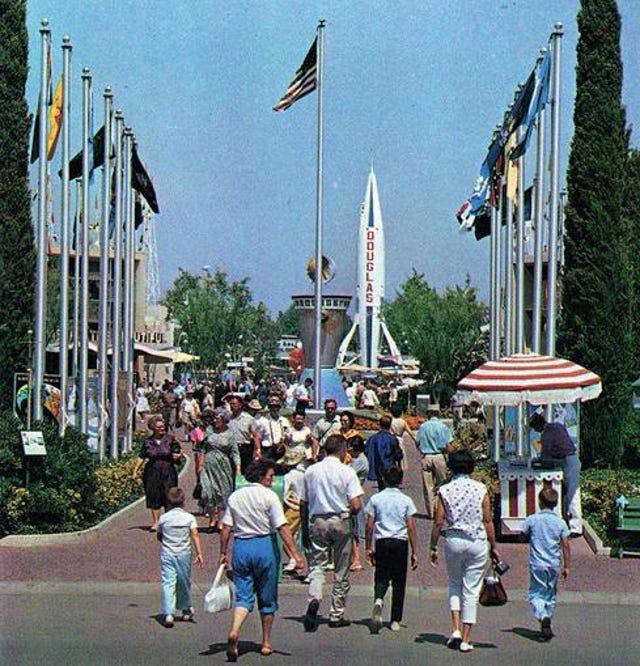 Entrance To Disneyland Tomorrowland 1963