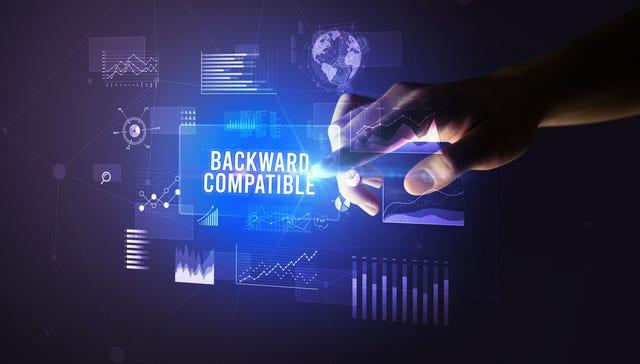 Backwards compatibility concept image