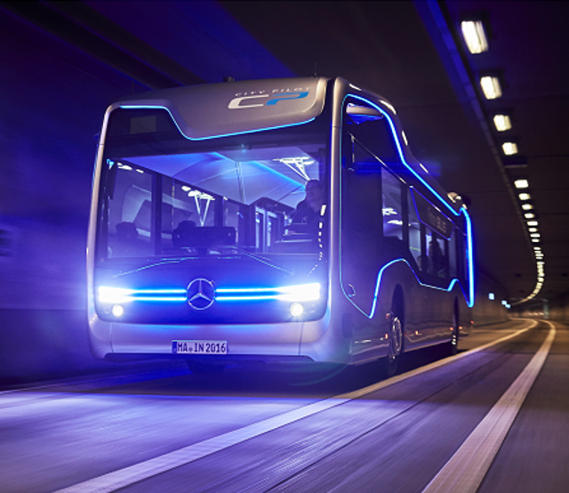 Self-Driving Buses Connect With Passengers, The Web