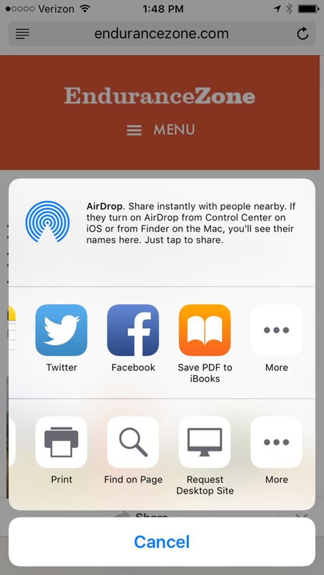 More Safari Options