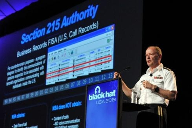 In the wake of the Snowden scandal, then-NSA director General Keith Alexander, in the  keynote address to Black Hat USA atten