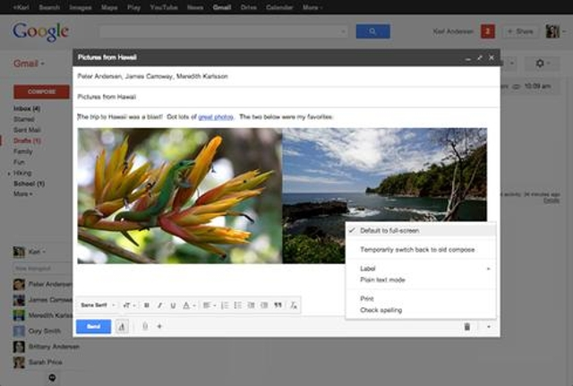Enable full-screen compositionGmail's latest redesign features a small pop-up composition window that not everyone loves. If