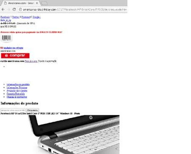 Americanas 60% Laptop Sale