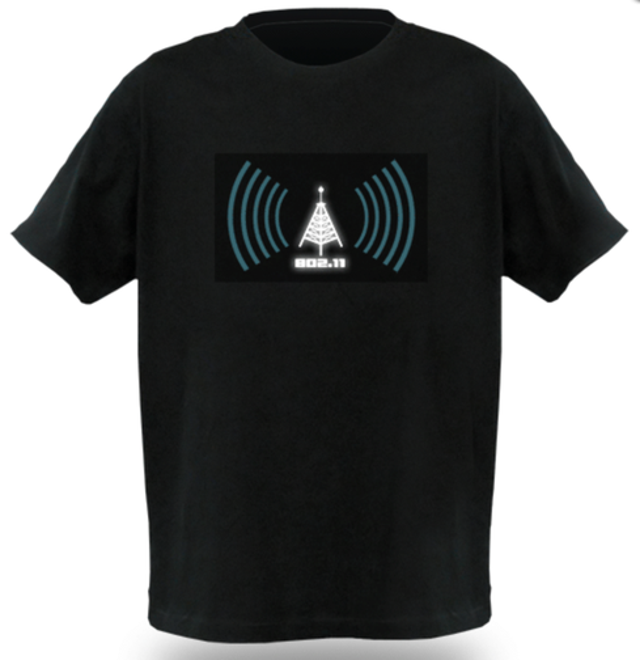 Among the few useful wearable computing devices, Think Geek's WiFi Detector Shirt won't hide you from surveillance cameras. B