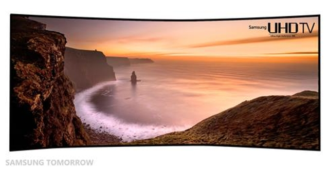 Giant curved, super-high-def TVs