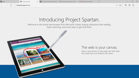 Microsoft 'Project Spartan': Hands-On Demo