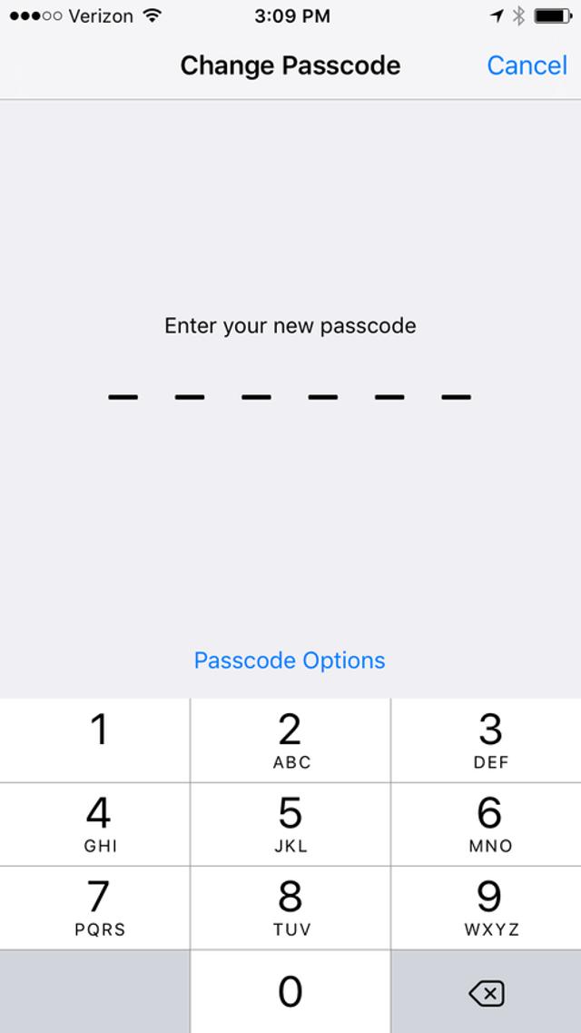 Complex Passcodes