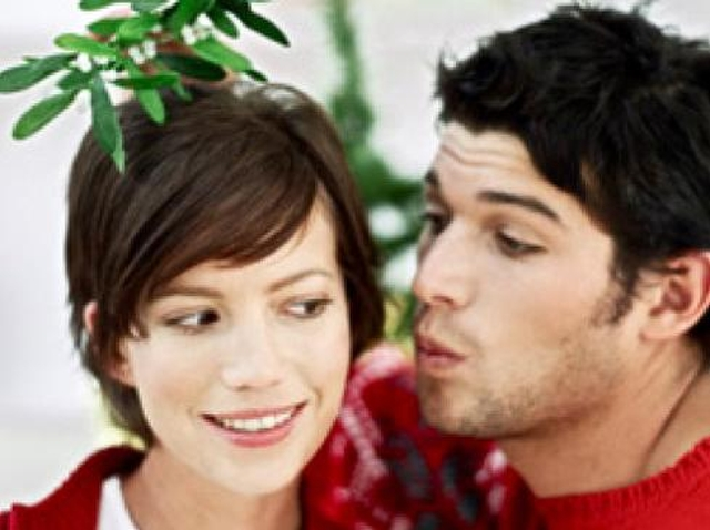 Mistletoe on your head Mistletoe kisses are usually innocent fun, but wearing mistletoe is a tad forward, wouldn't you say?