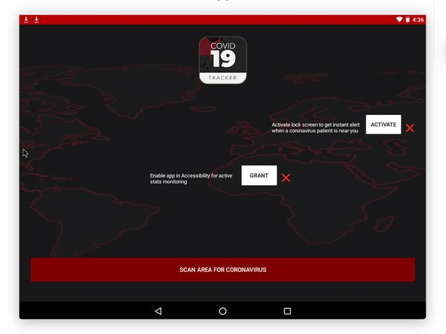 Coronavirus Tracking App Ransomware