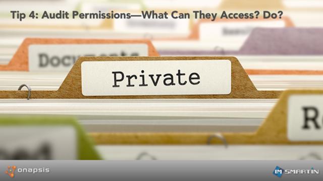 Tip 4: Audit Permissions