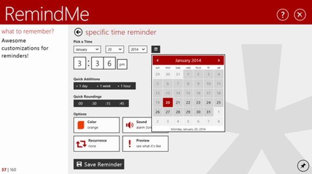 RemindMe for Windows