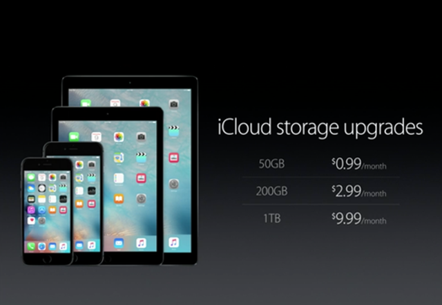 iCloud Price Drop