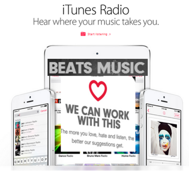 iTunes Radio + BeatsWith this week's news that Apple is buying Beats Electronics, WWDC might feature further music announceme