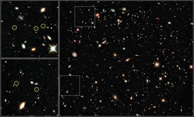 Most distant galaxies