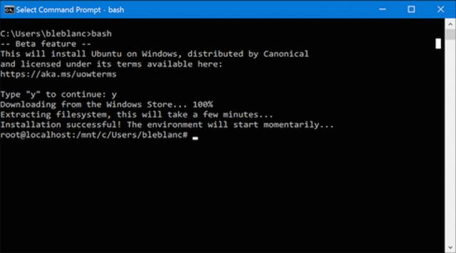 Native Bash On Ubuntu On Windows