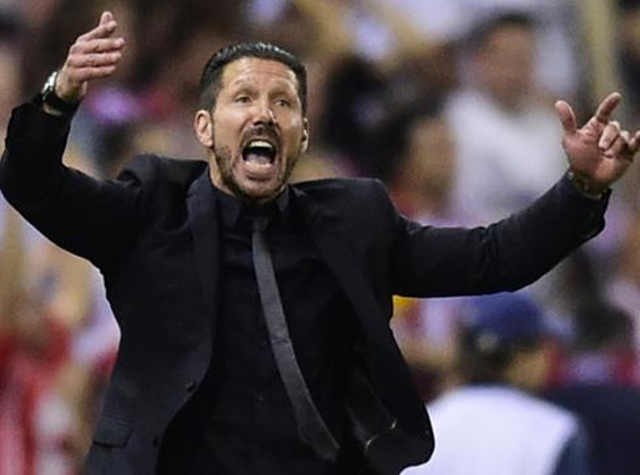 """Negotiating to replace Diego """"Young Larry"""" Simeone as manager of Spanish soccer league champions Atletico Madrid."""