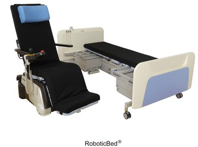 Robotic hospital bedHealthcare is a major magnet for robotics development. Panasonic's Resyone robotic bed, which lifts a pat