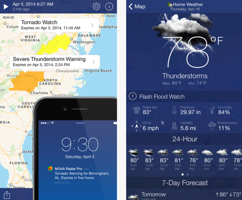 11 iPhone, Android Weather Apps For Rain Or Shine