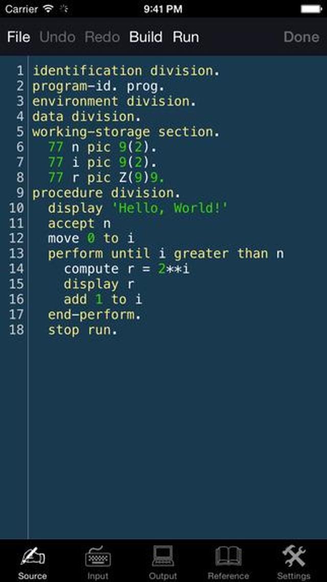 COBOL For iOS