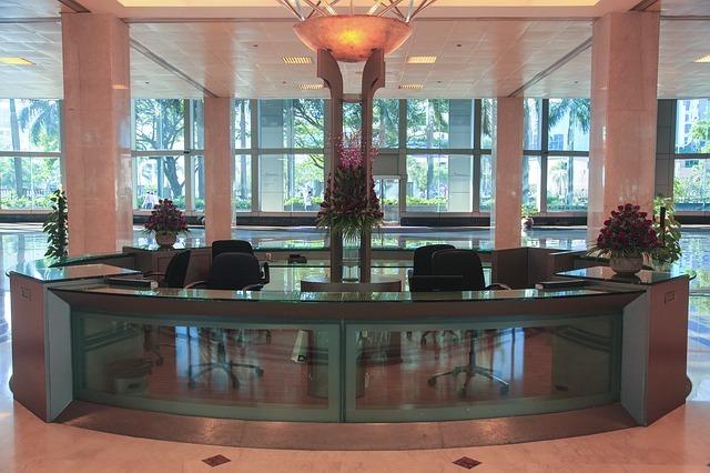 6. Reception areas