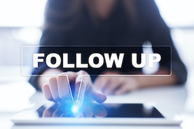 Determine a Plan for Follow-up