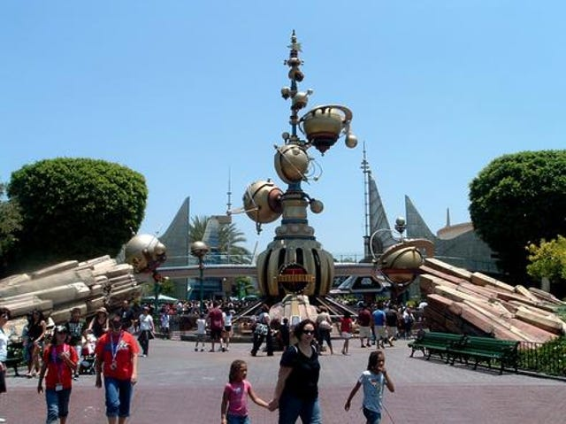 Entrance To Disneyland Tomorrowland 1998