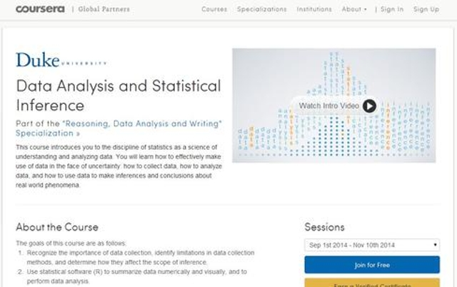 Data Analysis & Statistical Inference