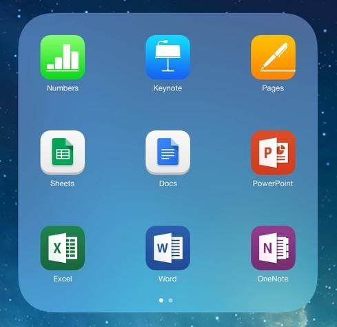 Microsoft Office For iPad Vs. iWork Vs. Google