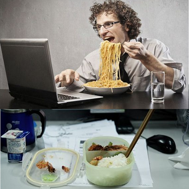 Eating/drinking at your computer