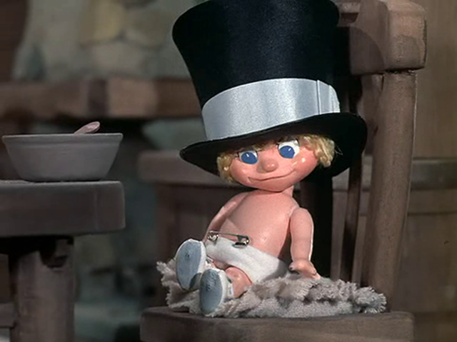 Just a hat (and little else)Who do you think you are, Baby New Year? Put on some clothes.