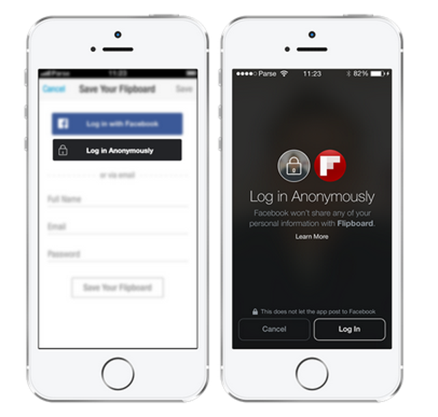 Log into apps anonymouslyAt Facebook's F8 developer conference in April, CEO Mark Zuckerberg announced that Facebook Login, t
