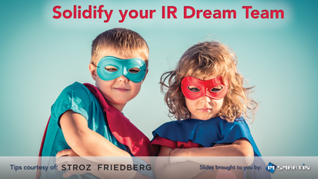Solidify your Dream Team of incident responders now