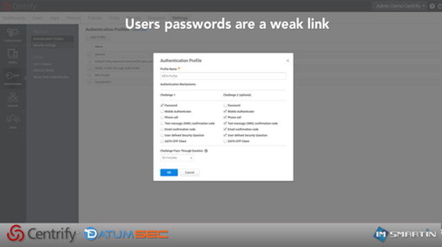 RISK: Users don't set passwords, they re-use passwords, and their credentials get hi-jacked