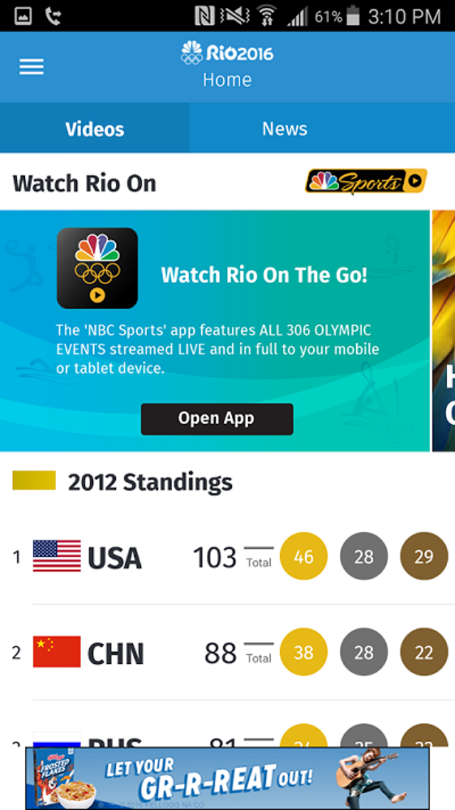NBC Olympics -- News And Results