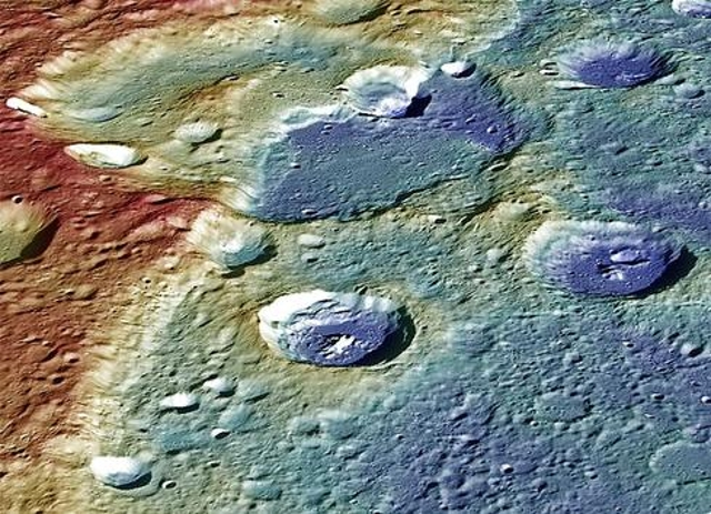 Tectonic Landforms Flashed In False Color