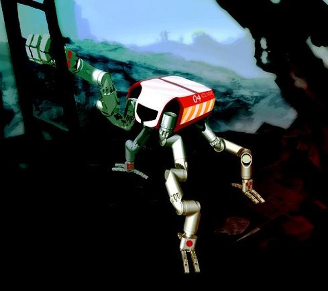 Simian-inspired robot