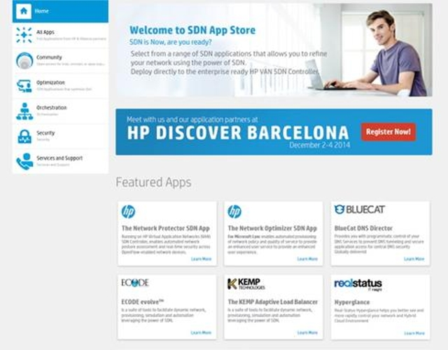 HP SDN App Store (booth #121)