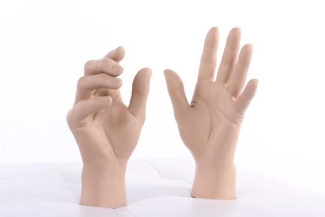 Using a Fake Hand To Game Palm-Vein Biometrics