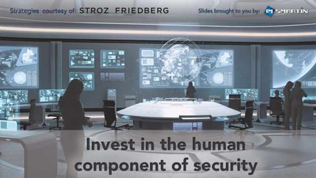 Invest in the human component of security